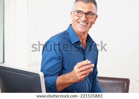 man consulting  - stock photo