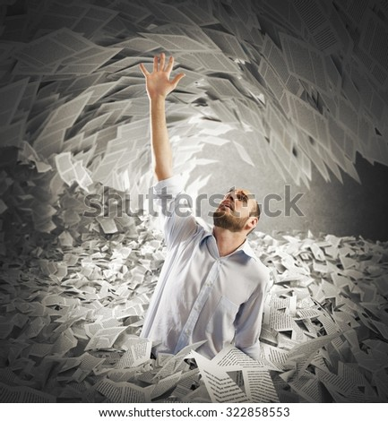 Man covered with sheets asks for help - stock photo