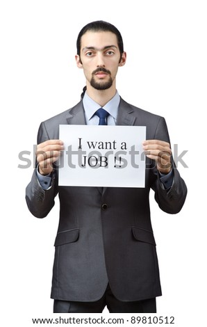 Man during the crisis - stock photo