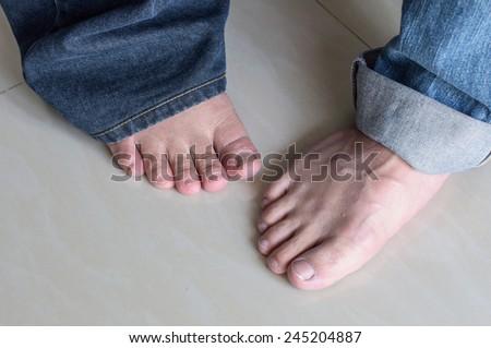 man foot - stock photo