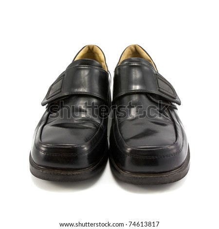 Man footwear isolated on a white background - stock photo