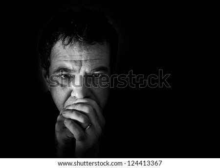 Man Fustrated - stock photo