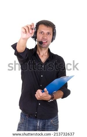 man giving orders - stock photo