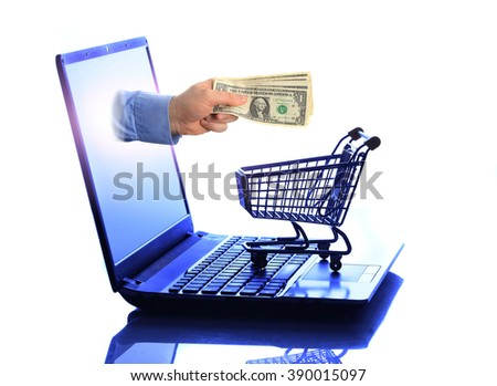 Man hand over bunch of money - stock photo