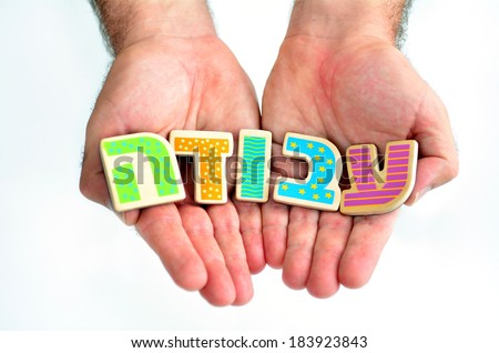 Man hands hold the word WORK in Hebrew text (Avoda) isolated on white background multi purpose concept of Job hunting,unemployment, employment, work seeking, seeking employment, work search in Israel. - stock photo