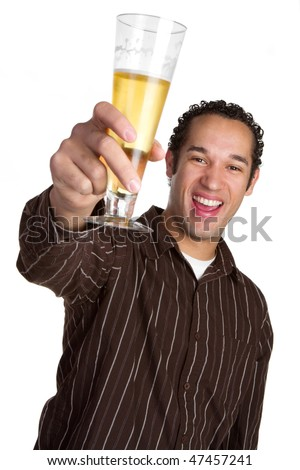 Man Holding Beer - stock photo