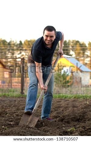 Man hole soil  - stock photo