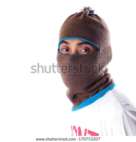 Man in a mask  - stock photo