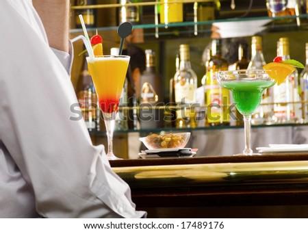 man in bar - stock photo