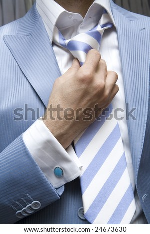 Man in blue suit - stock photo
