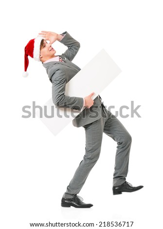 Man in Santa hat - stock photo