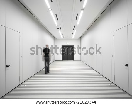 man in solitude - stock photo
