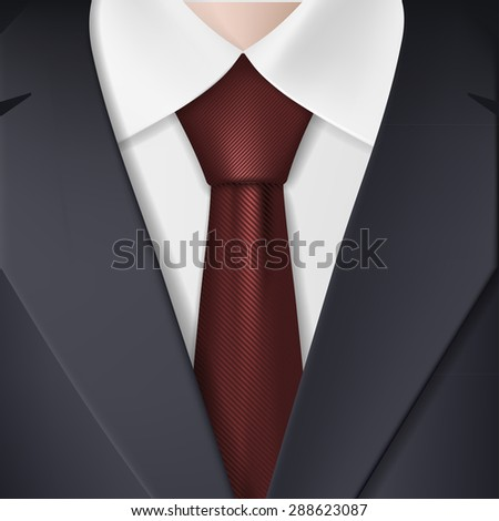 Man in suit and tie. Stock image. - stock photo