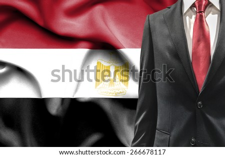 Man in suit from Egypt - stock photo