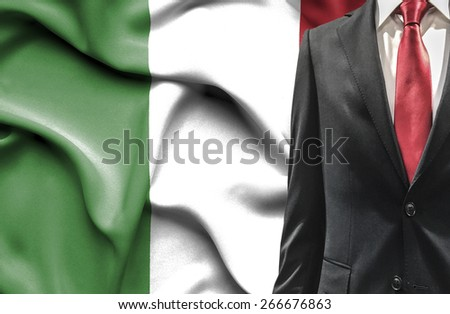 Man in suit from Italy - stock photo