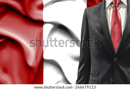 Man in suit from Peru - stock photo