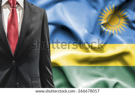 Man in suit from Rwanda - stock photo