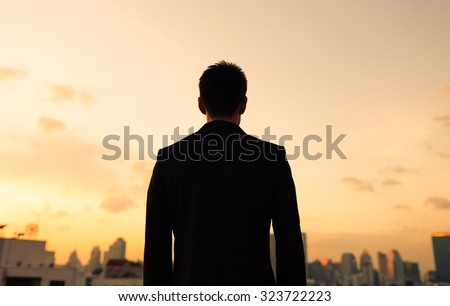 Man in the city. - stock photo