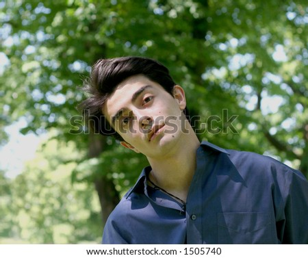 Man in the park (10) - stock photo