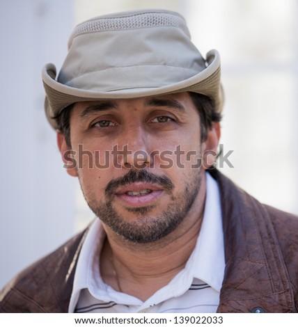 man intense look - stock photo