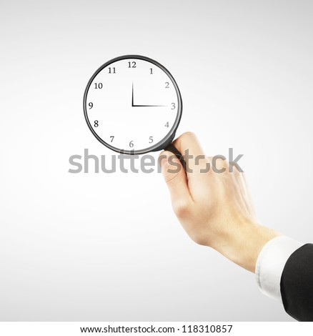 man looking for time concept - stock photo