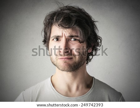 Man looking upset  - stock photo