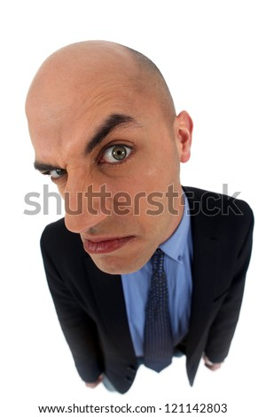 Man looking very angry - stock photo