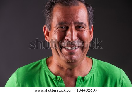 man lookng happy and smiling - stock photo