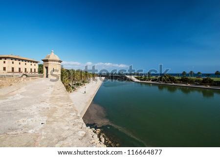 Man made lake at Palma de Mallorca, Spain - stock photo