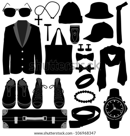 Man Male Clothing Wear Accessories Fashion Design - stock photo
