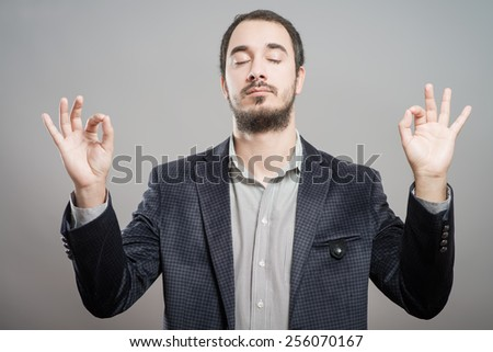 man meditating - stock photo
