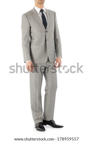 Man model with suit on white - stock photo