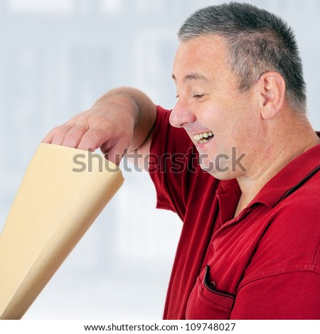 Man of letters - stock photo