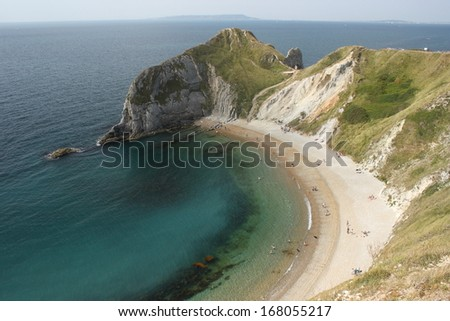 Man of War bay from above - stock photo