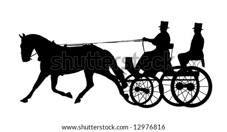 Horse Carriage Cartoon Man on Horse And Carriage