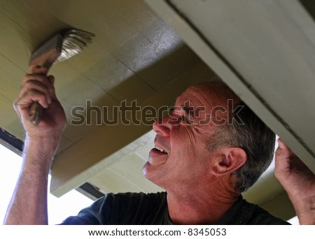 Man painting - stock photo