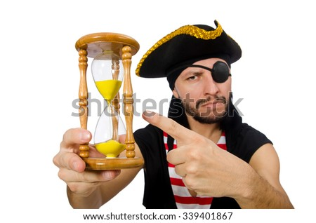 Man pirate isolated on the white background - stock photo