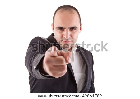man pointing - stock photo