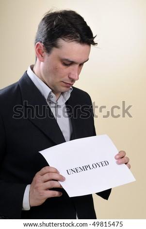 man preparing paper - stock photo