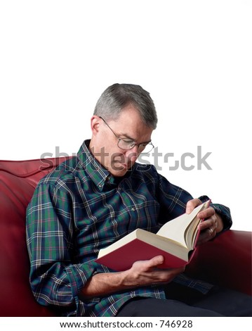 Man reading - stock photo