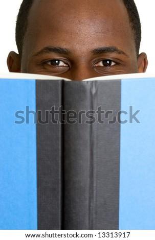 Man Reading Book - stock photo