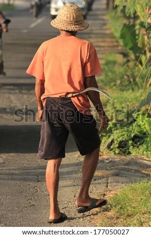 Man Ready for Farming - stock photo
