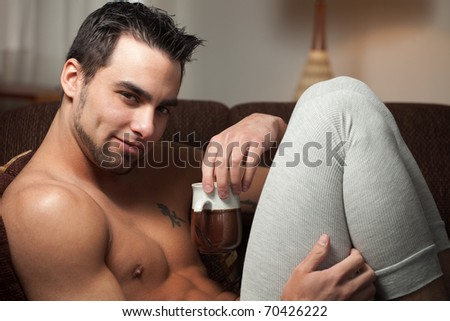Man Relaxing - stock photo