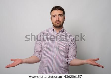 Man resigned  - stock photo