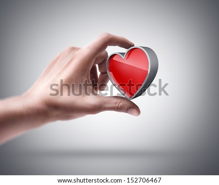 Man's hand holding card sign - stock photo