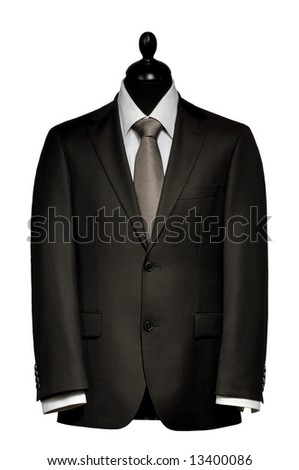 Man's suit 3 - stock photo