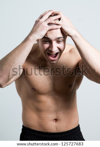 Man shouting - stock photo