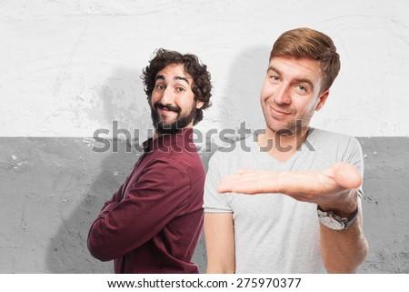man show sign - stock photo