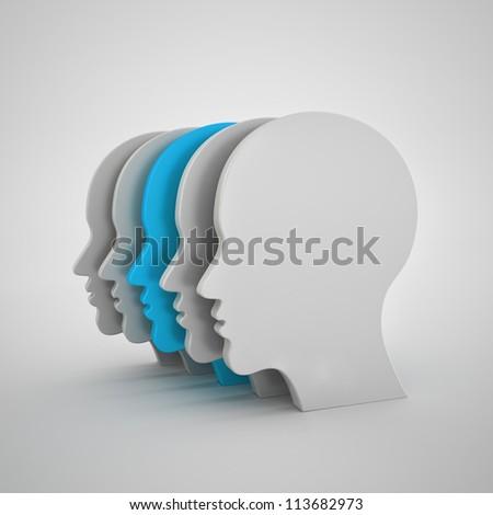 man silhouette - stock photo