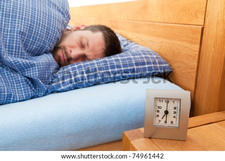 Man sleeping - stock photo